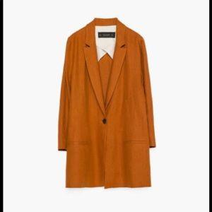 Zara burnt orange blazer